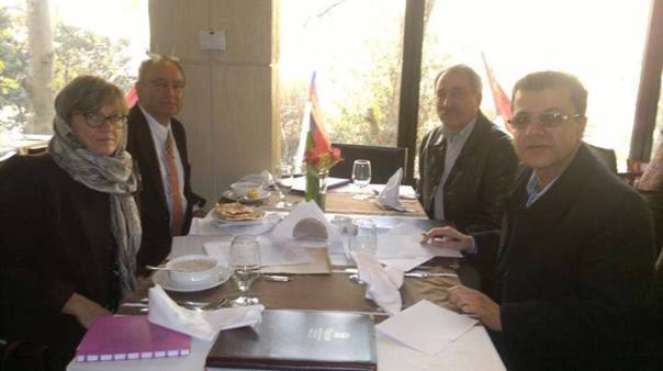 A European Parliament delegation met the Kurdish front representative in Tehran