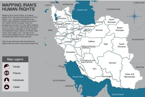 Mapping Iran's Human Rights
